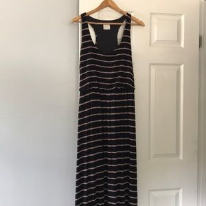 Tan and black racer back dress - size XL